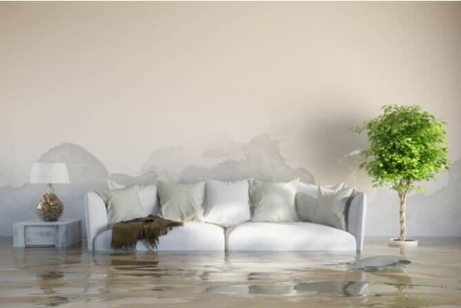 couch in flood